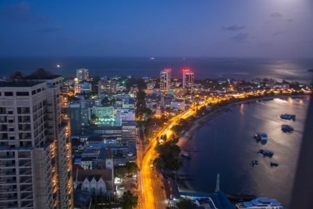 dar es salaam city evening